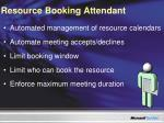 resource booking attendant