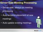 server side meeting processing