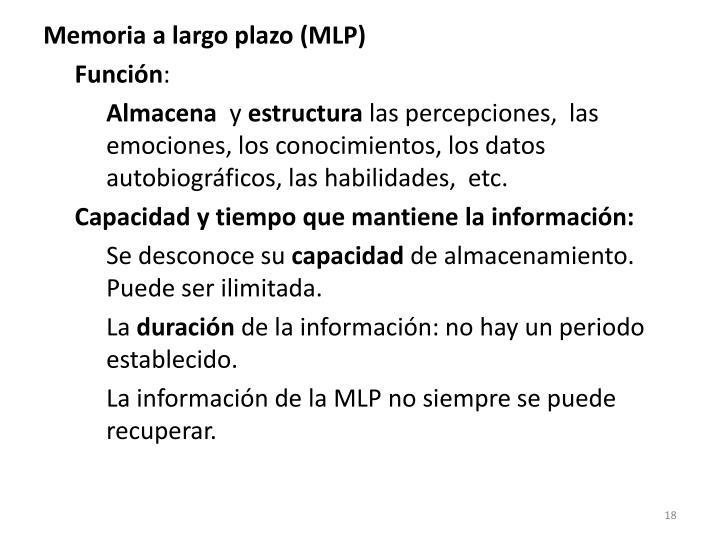 Memoria a largo plazo (MLP)