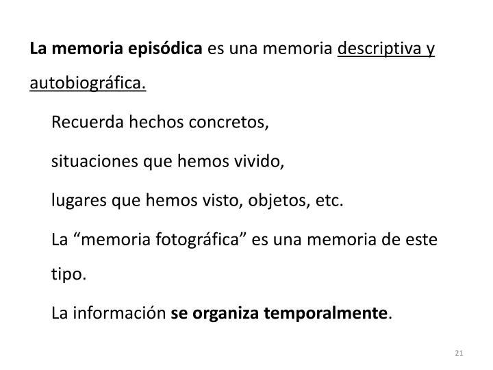 La memoria episódica