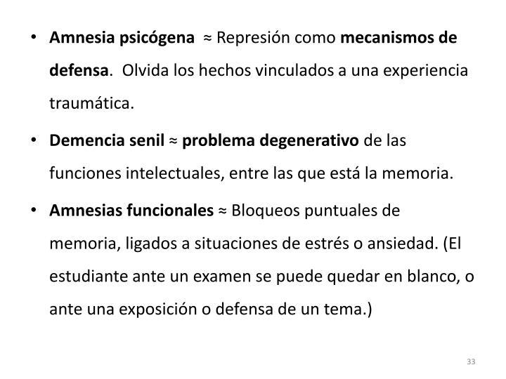 Amnesia psicógena