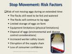 stop movement risk factors