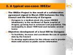 2 a typical use case idezar
