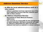address gazetteer service