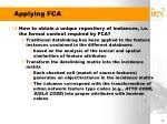 applying fca