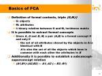 basics of fca