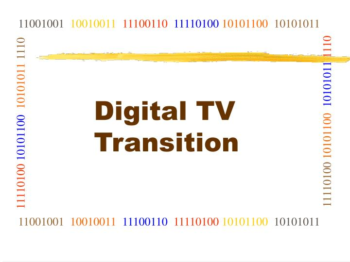 Digital tv transition