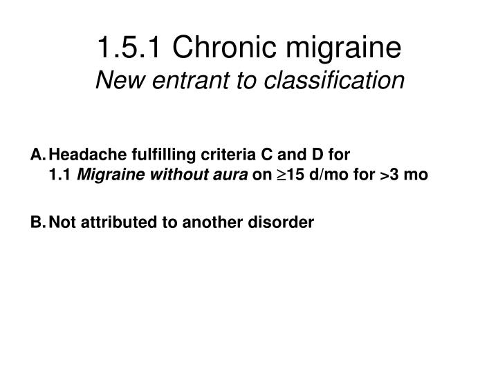 1.5.1 Chronic migraine