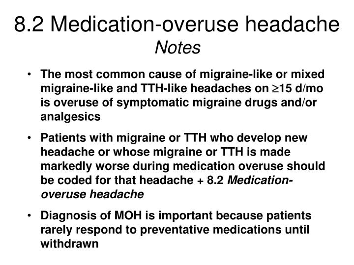 8.2 Medication-overuse headache