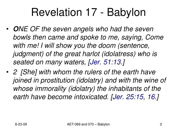 Revelation 17 babylon