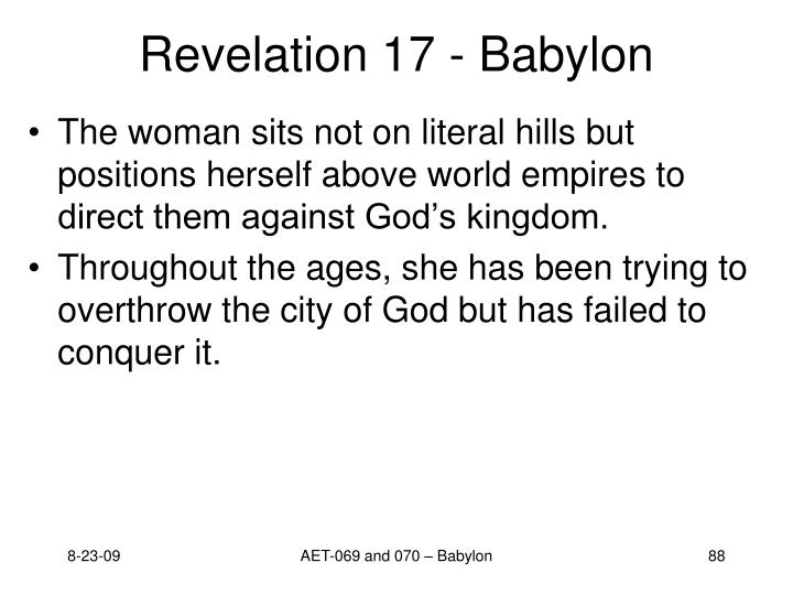 Revelation 17 - Babylon
