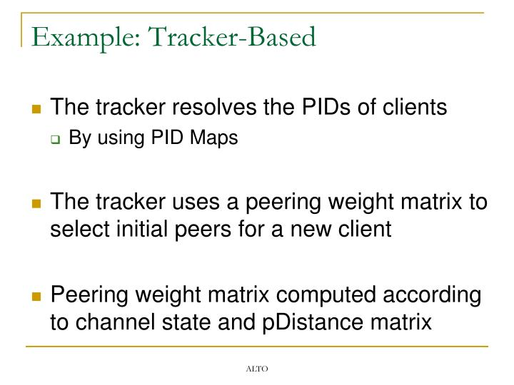 Example: Tracker-Based