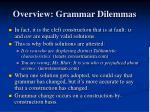 overview grammar dilemmas1