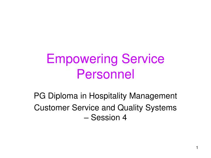 empowering service personnel n.