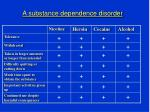 a substance dependence disorder