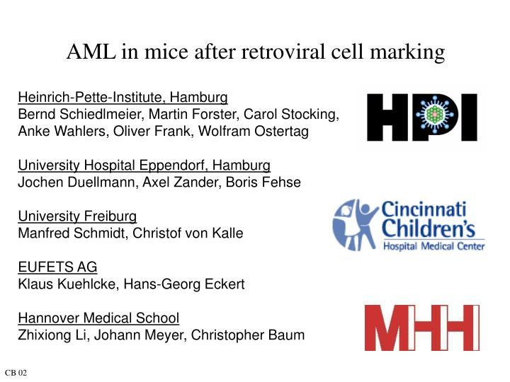 aml in mice after retroviral cell marking n.