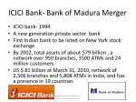 icici bank bank of madura merger