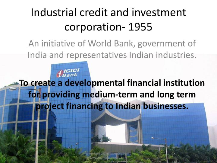 industrial credit and investment corporation 1955 n.