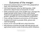 outcomes of the merger