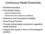continuous model essentials