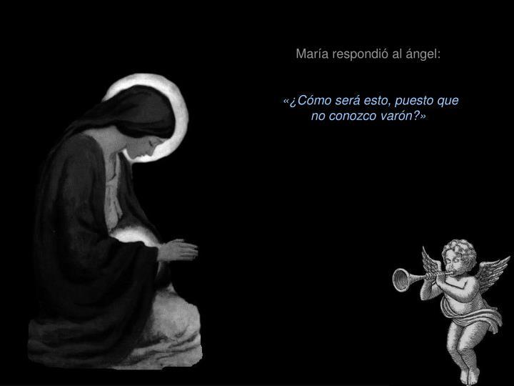 María respondió al ángel: