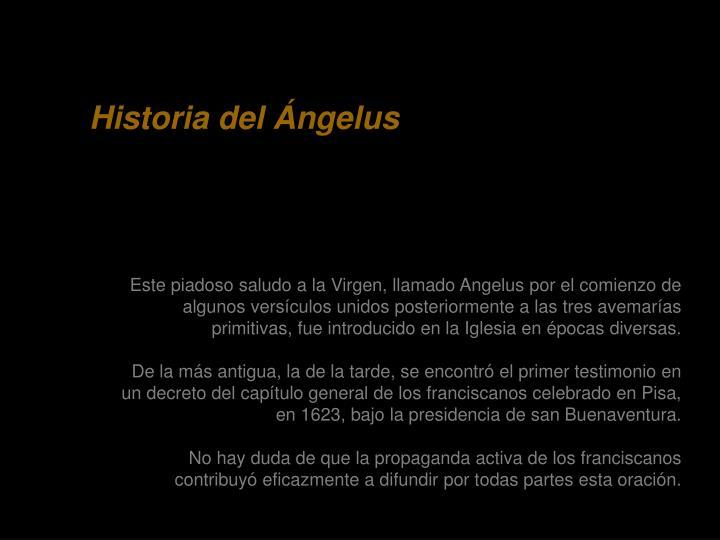 Historia del Ángelus