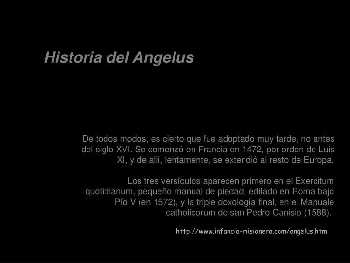 Historia del Angelus