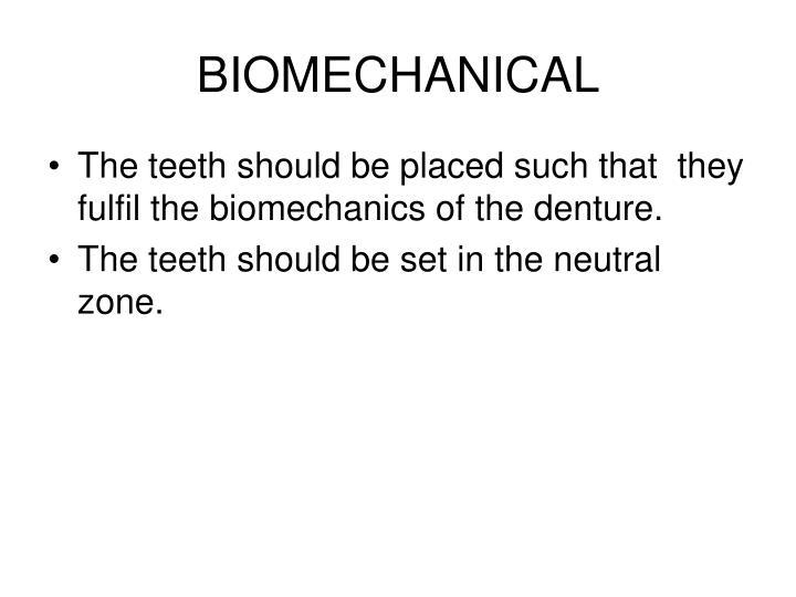 BIOMECHANICAL