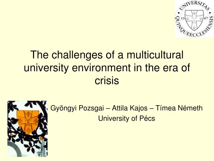 the challenges of a multicultural university environment in the era of crisis n.