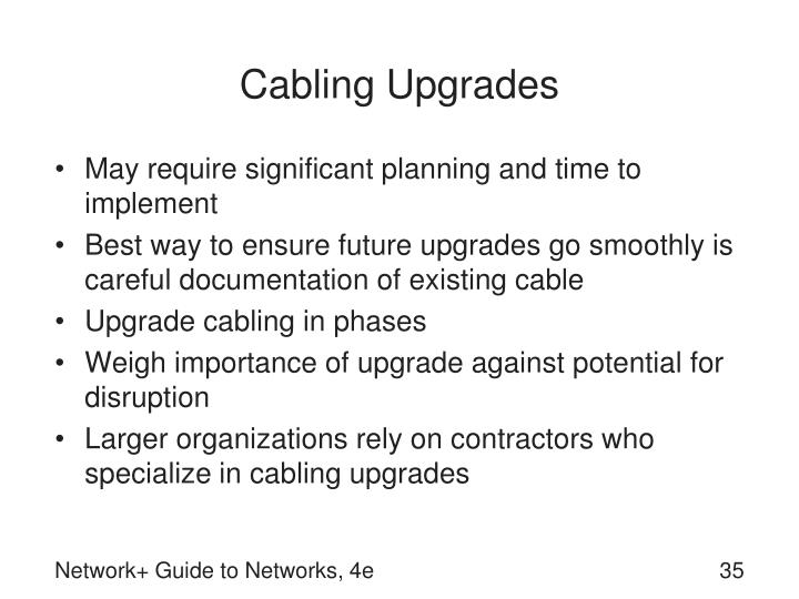 Cabling Upgrades