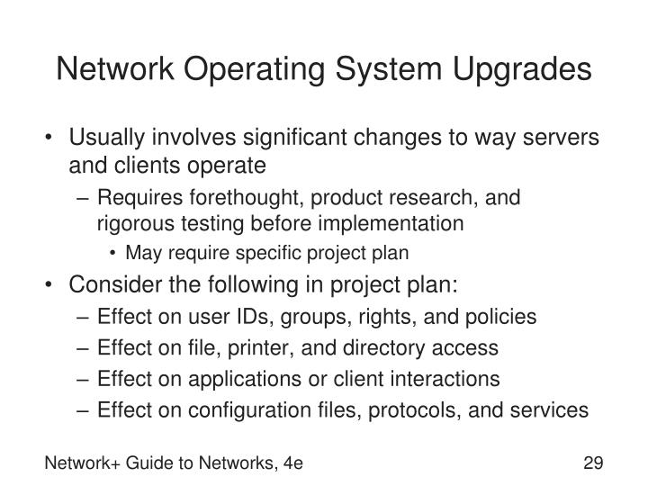 Network Operating System Upgrades