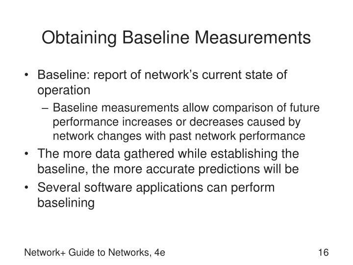 Obtaining Baseline Measurements