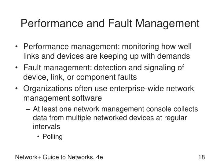 Performance and Fault Management