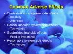 common adverse effects