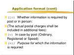 application format cont1