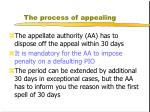 the process of appealing3