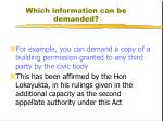 which information can be demanded3