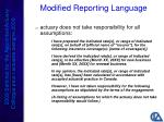 modified reporting language