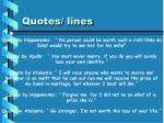 quotes lines