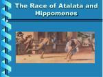 the race of atalata and hippomenes