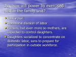 so how will power by exercised within the family unit