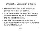 differential connection of fields