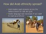 how did arab ethnicity spread