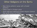 other religions on the bantu