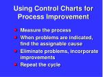 using control charts for process improvement