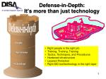 defense in depth it s more than just technology