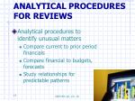analytical procedures for reviews