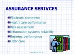 assurance serivces