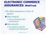 electronic commerce assurances webtrust