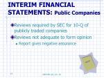 interim financial statements public companies